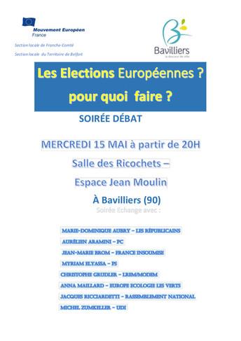 Débat : les élections européennes pour quoi faire ?