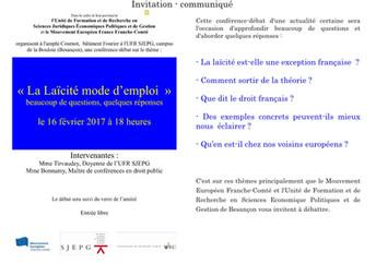 """Conférence-débat """"La Laïcité mode d'emploi..."""
