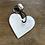 Thumbnail: Schlüsselanhänger Herz weiß