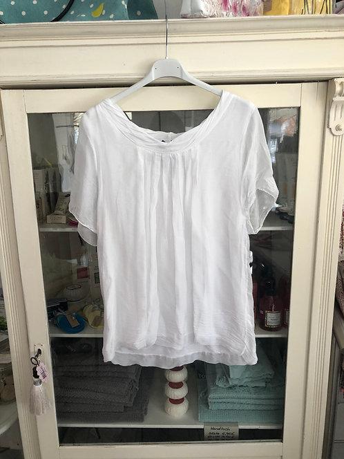 T-Shirt Seide weiß