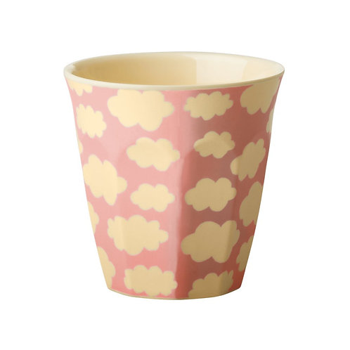 Medium Melamine Becher - Cloud Print