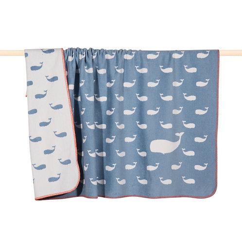 Kinderdecke Blauwal