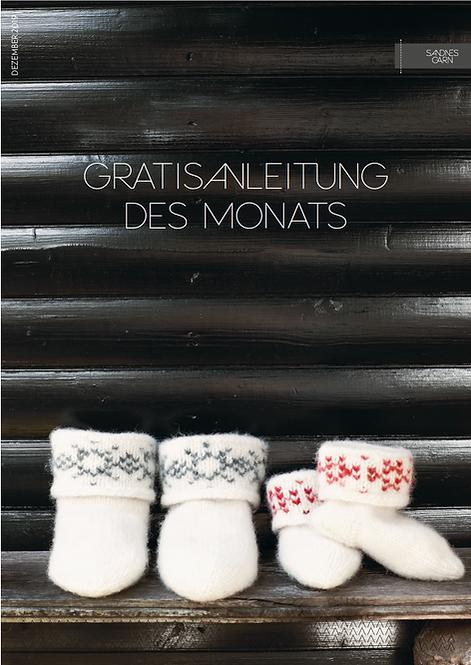 Gefilzte Schnee Kristal Socken Anleitung