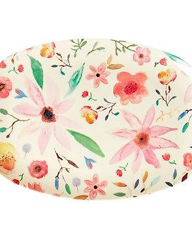 Rectangular Melamine Plate - Selmas Flower Print