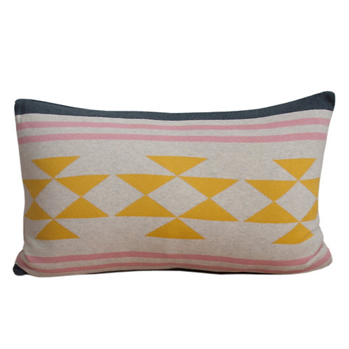Iben Yellow,Knitted Pillow