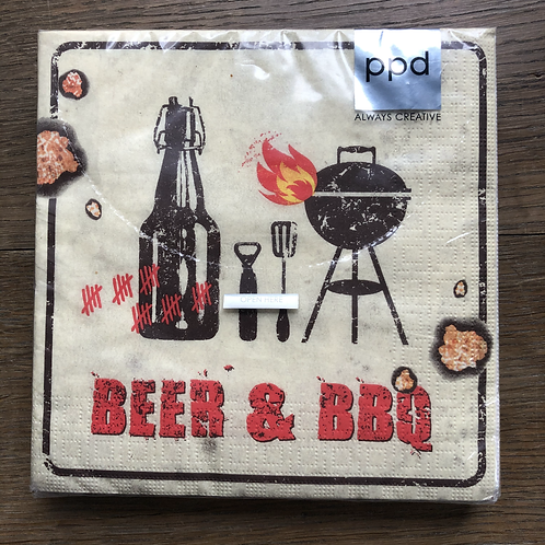 Serviette BBQ & Beer