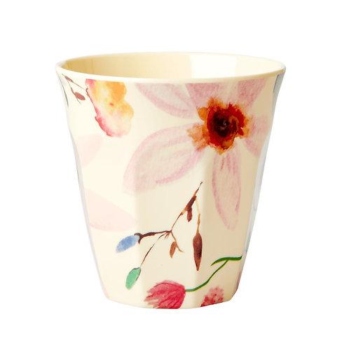 Medium Melamine Becher - Selmas Flower Print