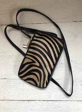 Umhängetasche Zebra Beige