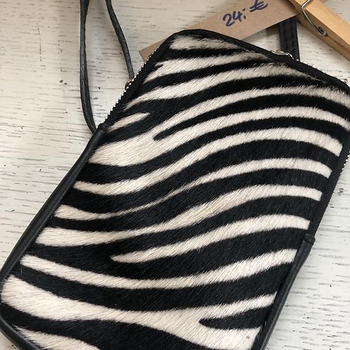 Umhängetasche Zebra hell
