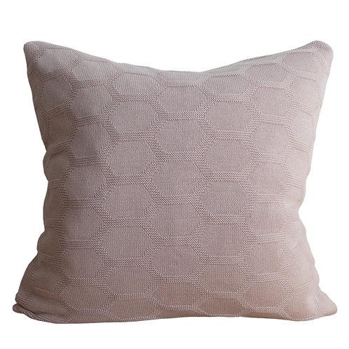 Herdis Light Pink Knitted Pillow