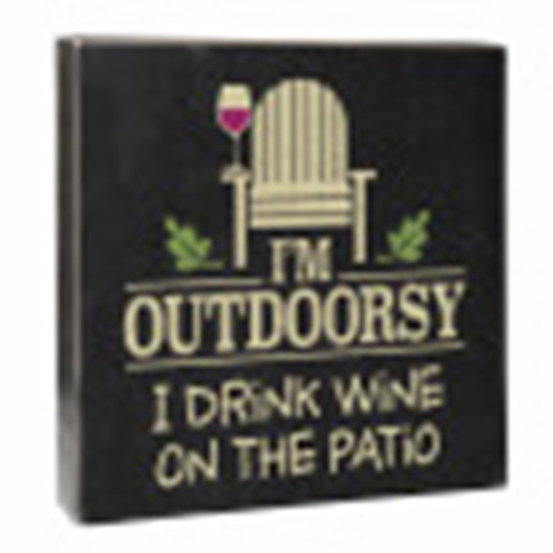 Outdoorsy Wooden Sign