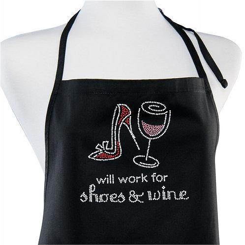 Sweetheart Rhinestone Apron - Shoes & Wine