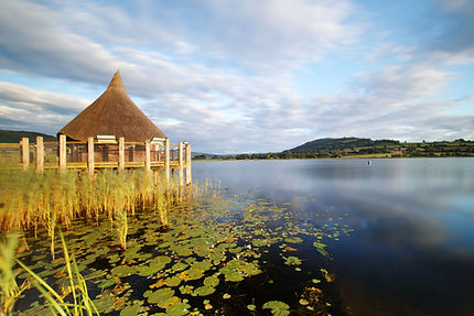 crannog center, llangorse lake, wales.jp