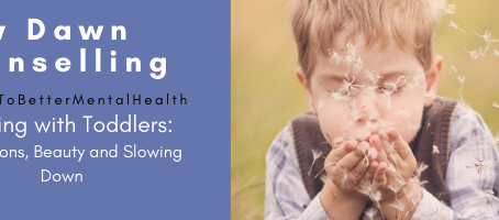 Walking with Toddlers: Dandelions, Beauty and Slowing Down
