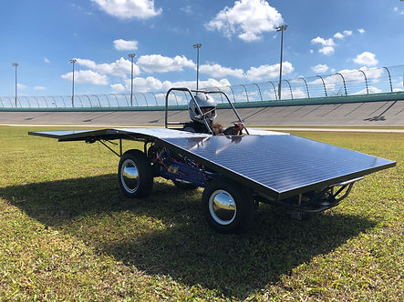 CarrollSUN solar car at Homestead Miami Speedway