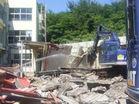 野洲中学校校舎解体工事