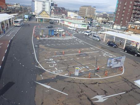 野洲駅前北口工事 着工しました!