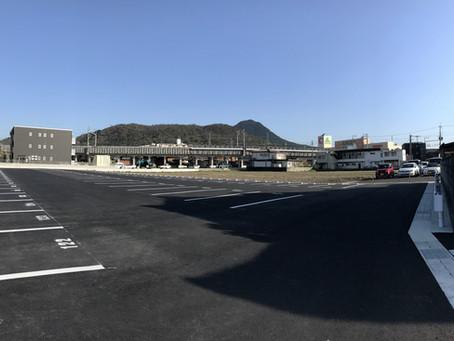 野洲市役所駐車場拡張工事完成