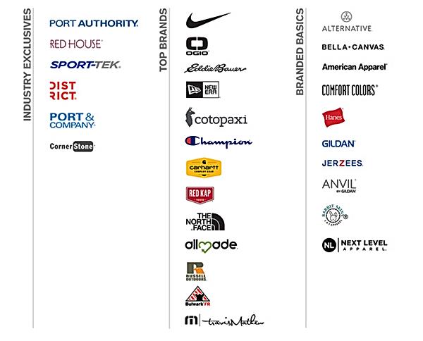 Corporate Apparel brands
