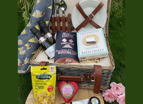 Hand Made Blanket and Luxury Filled Nibley Basket