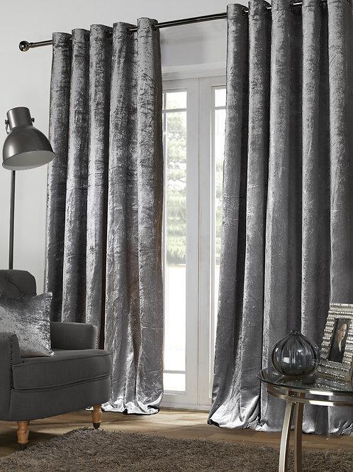 Velvet Velour Eyelet Ring Top Lined Curtains luxury