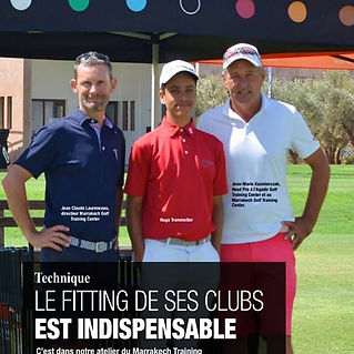fitting de club et bales marrakecg glf training camp cours stages fitting