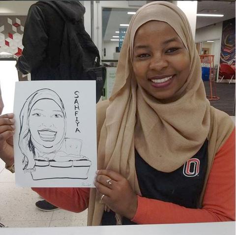 Caricature artwork in Omaha