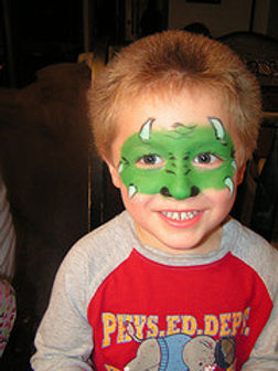 Dinosaur boy face paint