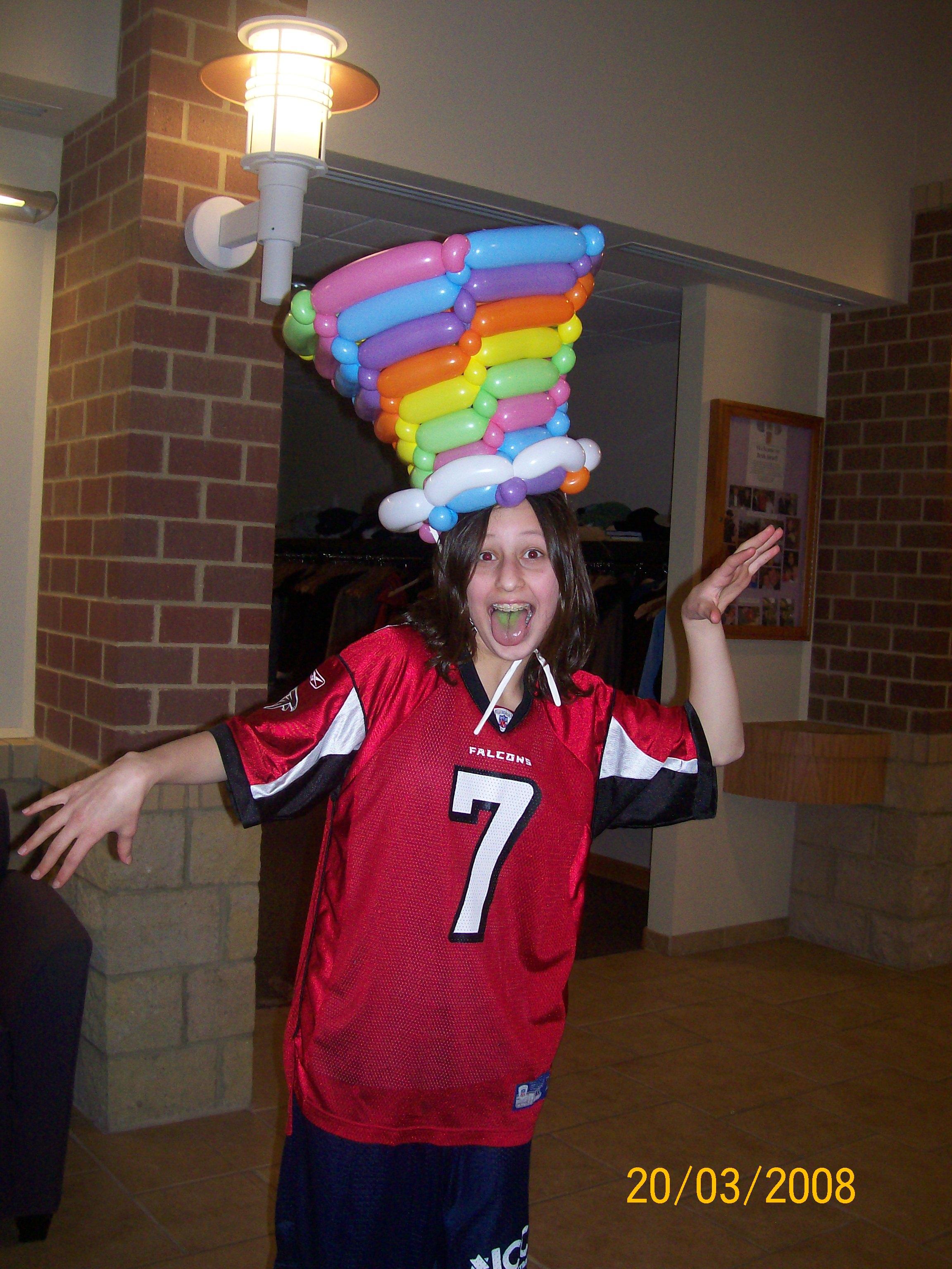 Crazy Balloon Hat