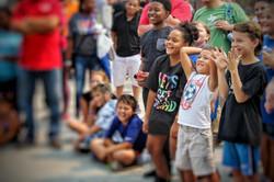 Kids react to magician in Omaha Nebraska