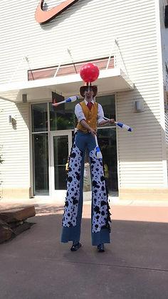 Cowboy Stilt Walker Juggling
