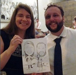 Couple and their Caricature Art
