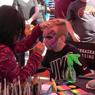 Face Painting Monster at Nebraska Crossi