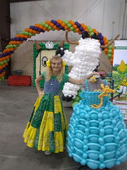 cinderella dress made from balloons