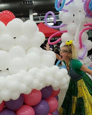 Massive Balloon Decor Cupcake