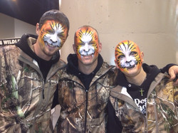 Guys with Tiger Faces