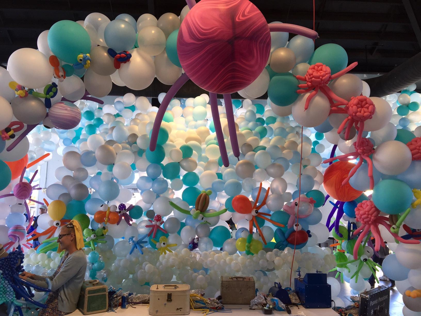 Giant Underwater Balloon Creation