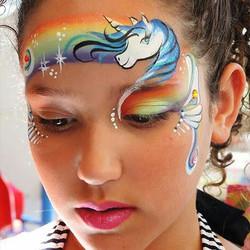 Rainbow Unicorn face painting