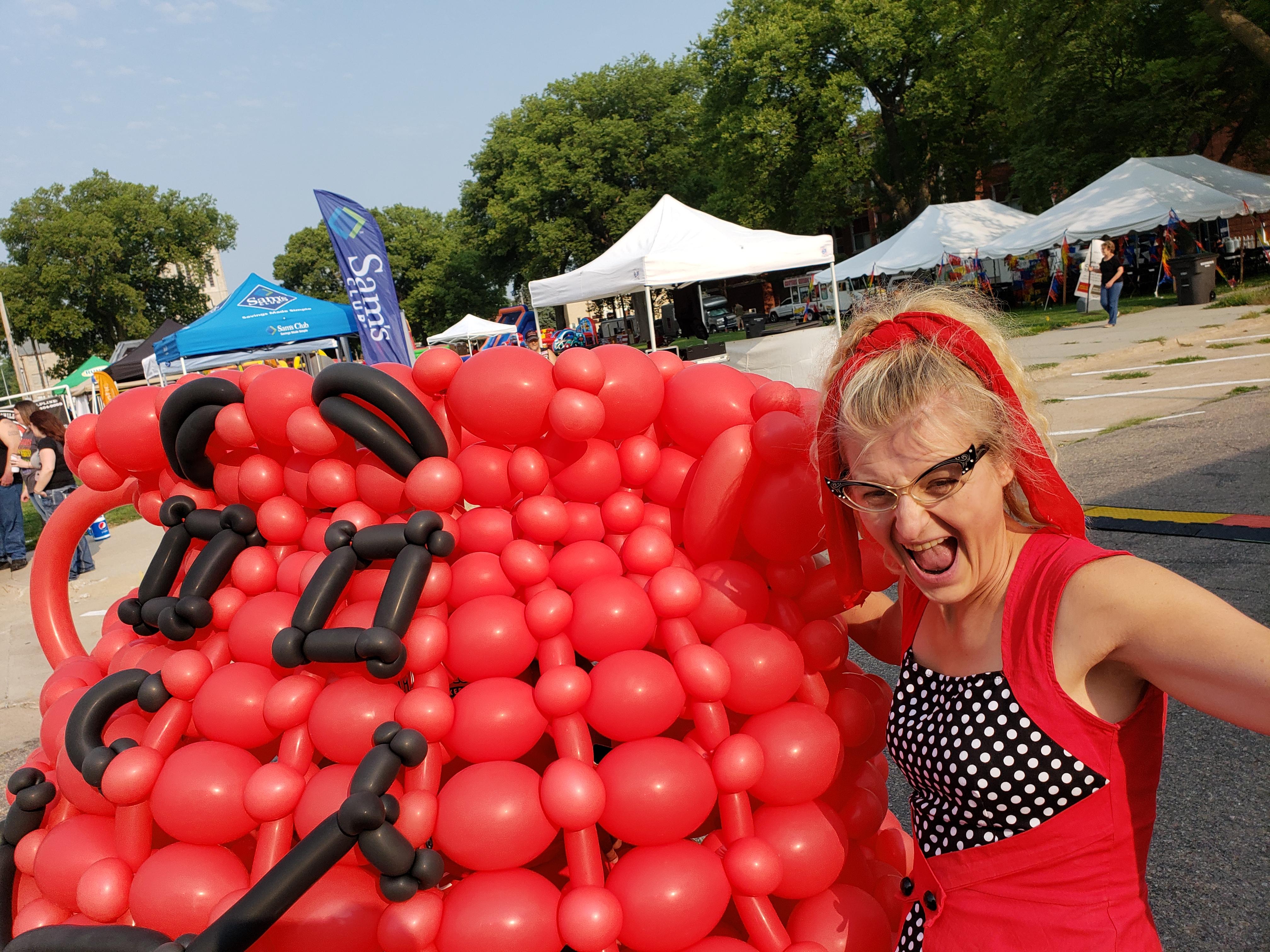 gigantic kool-aid man balloons