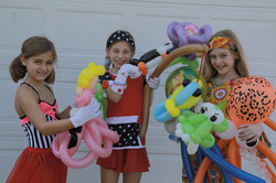Three Girls With Awesome Balloon Art