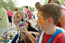 Face Painted Tiger