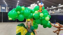 big green balloon jungle