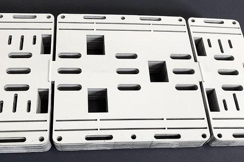 100 Retrofit Kit Brackets 8' 2 Bulb T12 Light Strip Conversion To T8 4 Tube LED