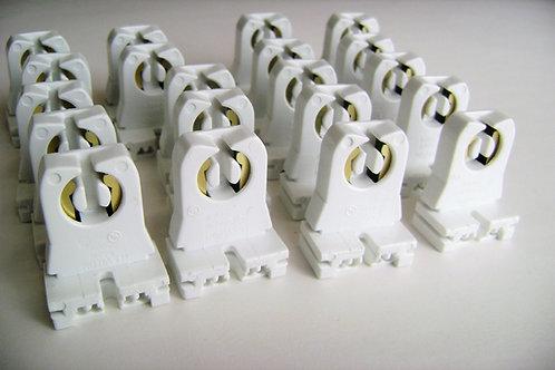 20x L13351 Fluorescent T8/T12 LED Bi-Pin Non-shunted Tombstone Lampholder Socket