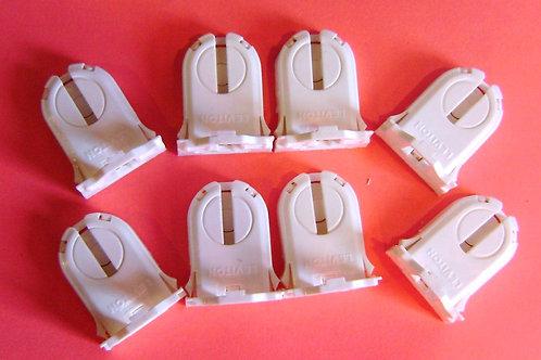 8 of Leviton 23661-SNP T8/T12 Shunted Bi-Pin Fluorescent Lamp Holder Sockets