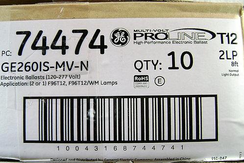 10 GE260IS-MV-N Electronic Ballast for 2 F96T12 bulb Multi-Volt ProLine GE 74474