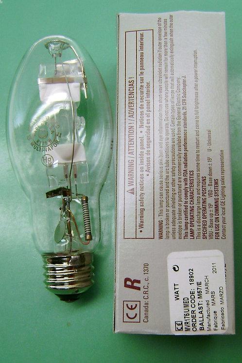 MVR175/U/MED 175W M57 Clear BD17 Unprotected Metal Halide Light Bulb GE 18902