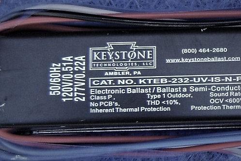 Keystone KTEB-232-UV-IS-N-P 2 Bulb T8 Electronic Fluorescent Ballast