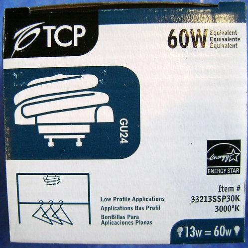 33213SSP30K 13W 3000K Low Profile SpringLamp GU24 60W Equal CFL Light Bulb