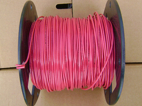 18 AWG TFN 500' Spool of Red Solid Copper Electrical Wire 18 Gauge 500 feet